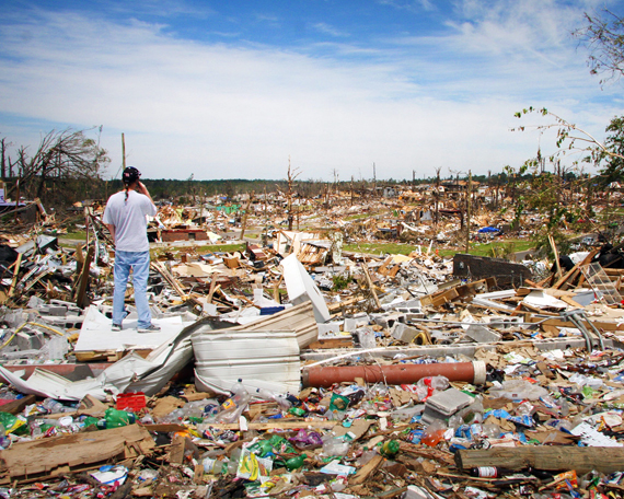 Tornado damage in Alabama and Mississippi, 2011